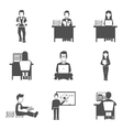 Student Icons Set vector image