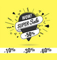 super sale weekend special vector image