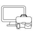 technology computer screen cartoon vector image