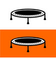 trampoline for jumping simple black symbol vector image vector image
