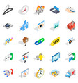 trifle icons set isometric style vector image vector image