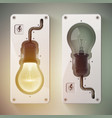 two realistic isolated bulb vector image