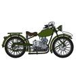 Vintage green motorcycle vector image vector image