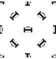 welding machine pattern seamless black vector image vector image