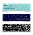 winter banners template set with snow shine vector image vector image