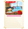 write a story template vector image vector image