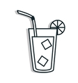 Delicious and refreshing limonade on glass vector image