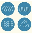 Wave icon set vector image