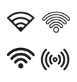 Wi-Fi icon set vector image