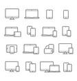 device line icon set vector image
