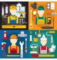 home repair banners flat design vector image