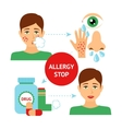 Allergy Prevention Concept vector image vector image