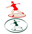 Athletics Discus throwing-1 vector image