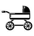 baby carriage icon simple black style vector image vector image