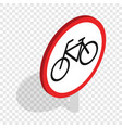 bicycle sign isometric icon vector image vector image
