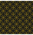 Black and gold seamless pattern background vector image vector image