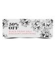 black friday sale discount promo offer banner or vector image