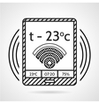 Black line icon for heating control device vector image vector image