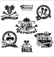 Brazilian Carnival Big set of Brazilian templates vector image