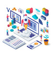 business startup isometric concept vector image