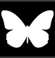 butterfly the white color icon vector image vector image