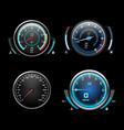 car dashboard speedometer tachometer and fuel vector image