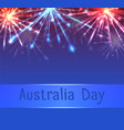 card with fireworks and congratulations on vector image vector image