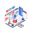 chat bot service isometric vector image