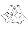 christmas bell emoji icon image vector image vector image