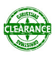 clearance christmas rubber stamp isolated on white vector image vector image