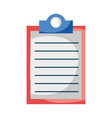 clipboard document checklist isolated icon design vector image vector image