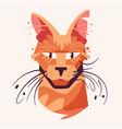 cute cat face flat vector image