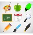 Different school icon set1 vector image vector image