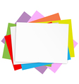 Empty colored papers vector image