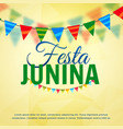 festa junina june festival of brazil design vector image vector image