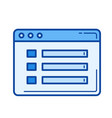 file details line icon vector image vector image
