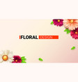 floral bouquet buds flower and leafs concept vector image vector image