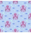 Funny octopus pattern vector image