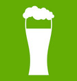 glass of beer icon green vector image vector image