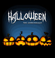 halloween banner scary spooky laugh mad pumpkin vector image vector image