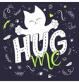 hand lettering text - hug vector image vector image