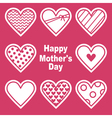 Happy Motherss Day Card With Hearts vector image vector image