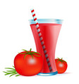 healthy smoothie drink with tomato vector image