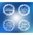holly jolly merry christmas happy holidays text vector image vector image