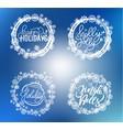holly jolly merry christmas happy holidays text vector image