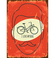I love my bike vector image vector image
