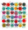 Knitting Yarn Balls vector image vector image