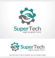 letter s technology logo template vector image