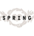 lettering Spring with decorative flower vector image vector image