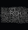 lifestyles of the super rich text background word vector image vector image